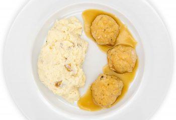 Chicken Meat Balls + Lean Mashed Potatoes Gravy