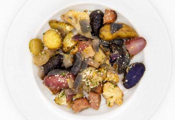 Chicken Sausage + Small Potatoes Stir Fry